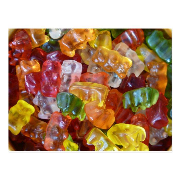 Gummy Bears Background Postcard