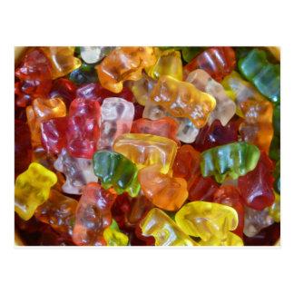 Gummy Bears Background Postcards