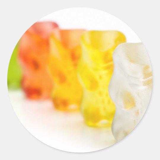 Gummy bears classic round sticker