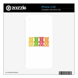 Gummy Bears Skin For iPhone 4S