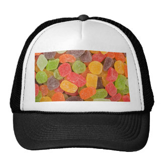Gummy candy background hats