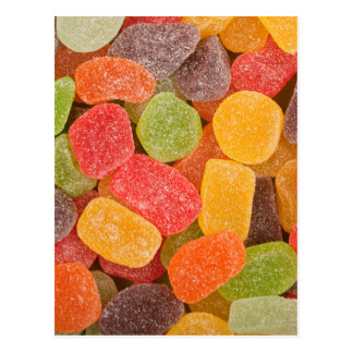 Gummy candy background post cards