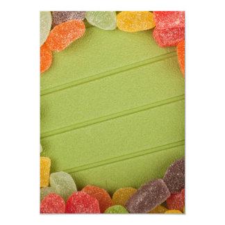 Gummy candy frame card