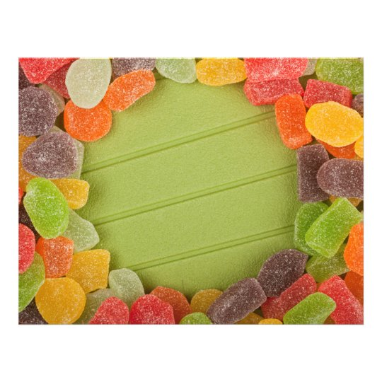 Gummy candy frame flyer
