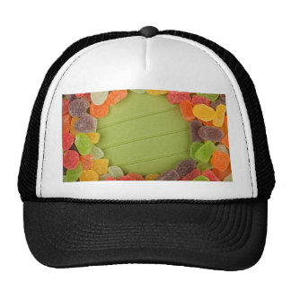 Gummy candy frame hats