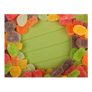 Gummy candy frame post cards