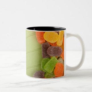 Gummy candy frame Two-Tone coffee mug