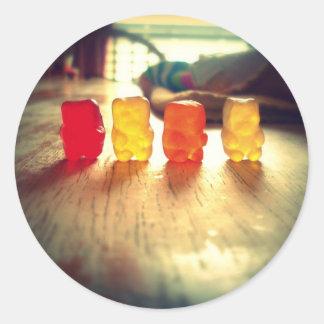 Gummy Gummy Gummy! Classic Round Sticker