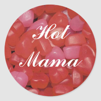 Gummy Heart Hot Mama Sticker