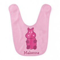 Gummy Hippo Bib - Pink