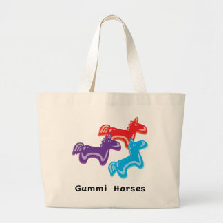 Gummy Horses Large Tote Bag
