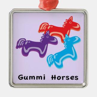 Gummy Horses Metal Ornament