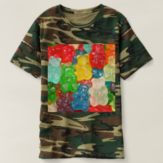 gummybears,candy,colorful,fun,kids,kid,children,pa t-shirt