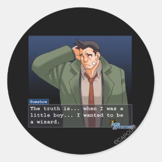 """Gumshoe - """"Truth"""" Classic Round Sticker"""