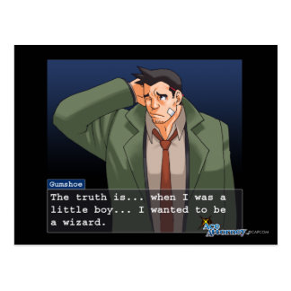"Gumshoe - ""Truth"" Postcard"