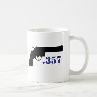 **GUN .357** CLASSIC WHITE COFFEE MUG