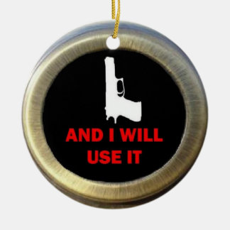 Gun Advocate Double-Sided Ceramic Round Christmas Ornament