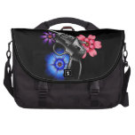 gun and flowers bag for laptop