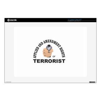 gun and terrorist in the usa laptop skin