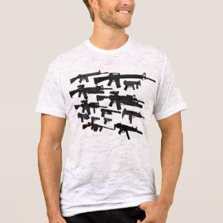 Gun Artillery thin white vintage style mens tshirt