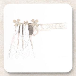 Gun Bride Plastic Coasters