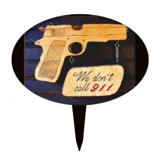 Gun Cake Topper