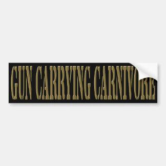 Gun Carrying Carnivore Bumper Sticker
