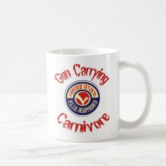 Gun Carrying Carnivore Cup Coffee Mugs