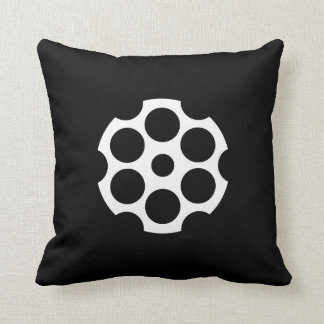 Gun Chamber Pictogram Throw Pillow