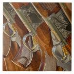 Gun Collection Display Large Square Tile