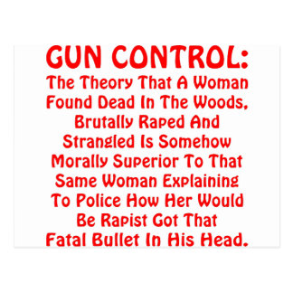 Gun Control A Woman Found Dead In The Woods Post Card