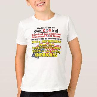Gun Control Anti-2nd Amendment Democrat CON Game T-Shirt