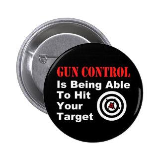 Gun Control Black 2 Inch Round Button