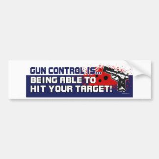 Gun-Control Car Bumper Sticker