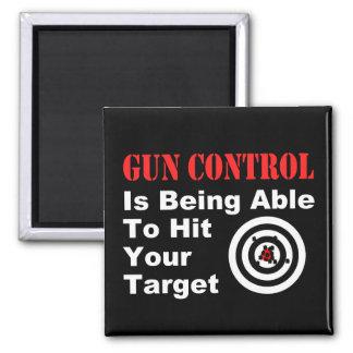 Gun Control center 2 Inch Square Magnet