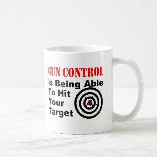 Gun Control center Classic White Coffee Mug