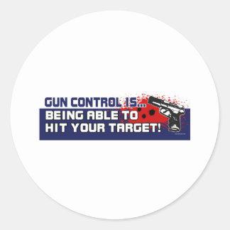 Gun-Control Classic Round Sticker