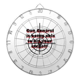 gun control dart board