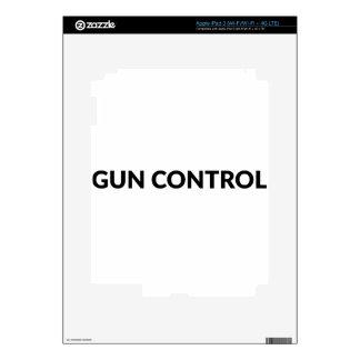 gun CONTROL Decal For iPad 3