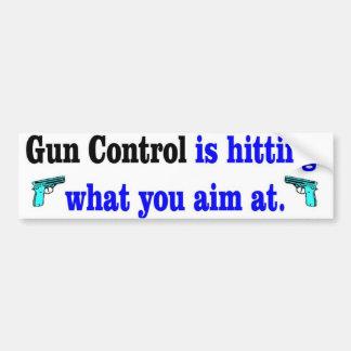 gun control hitting car bumper sticker