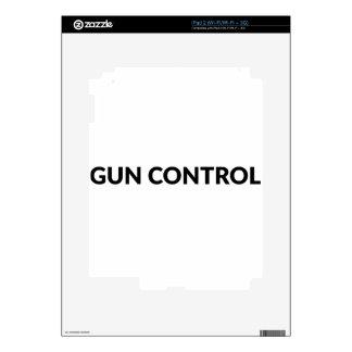 gun CONTROL iPad 2 Decal