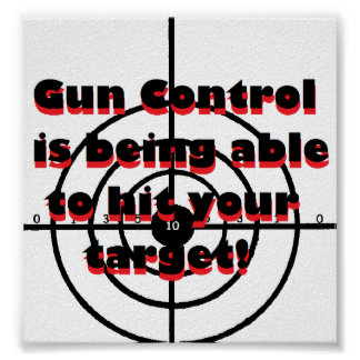 Gun Control: is being able to hit your target Poster