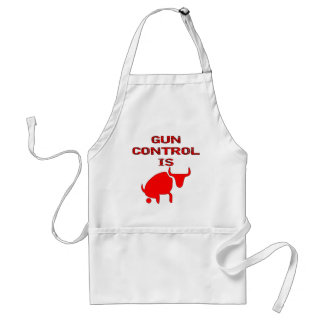 Gun Control Is Bull Adult Apron