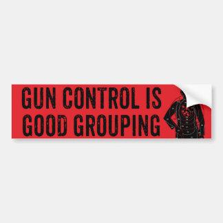 Gun Control Is Good Grouping Bumper Sticker Car Bumper Sticker