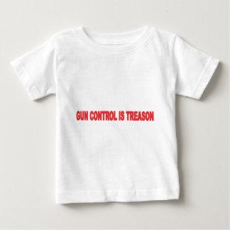 GUN CONTROL IS TREASON BLK.png Baby T-Shirt