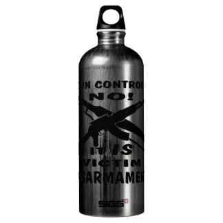 Gun Control Is Victim Disarmament Aluminum Water Bottle