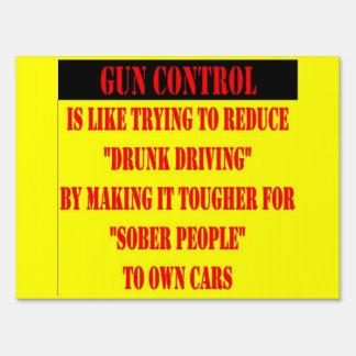 GUN CONTROL LAWN SIGNS