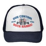 Gun Control Means Using Both Hands Pro Gun Gear Hats