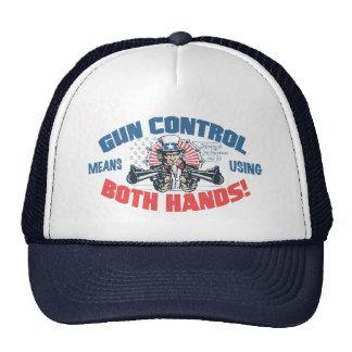 Gun Control Means Using Both Hands Pro Gun Gear Trucker Hat