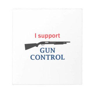 Gun Control Notepad